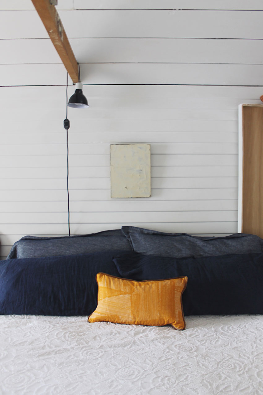 Bed For The Homeowners And Their Three Dogs In This Berkeley Tiny House On Design*Sponge