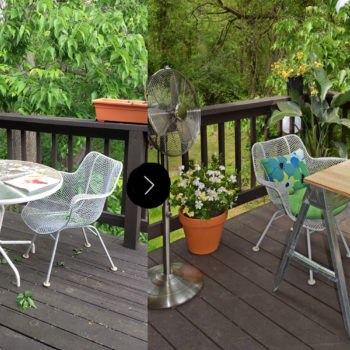 Before & After: A Backyard Balcony Gets a Makeover for Summer Sunsets