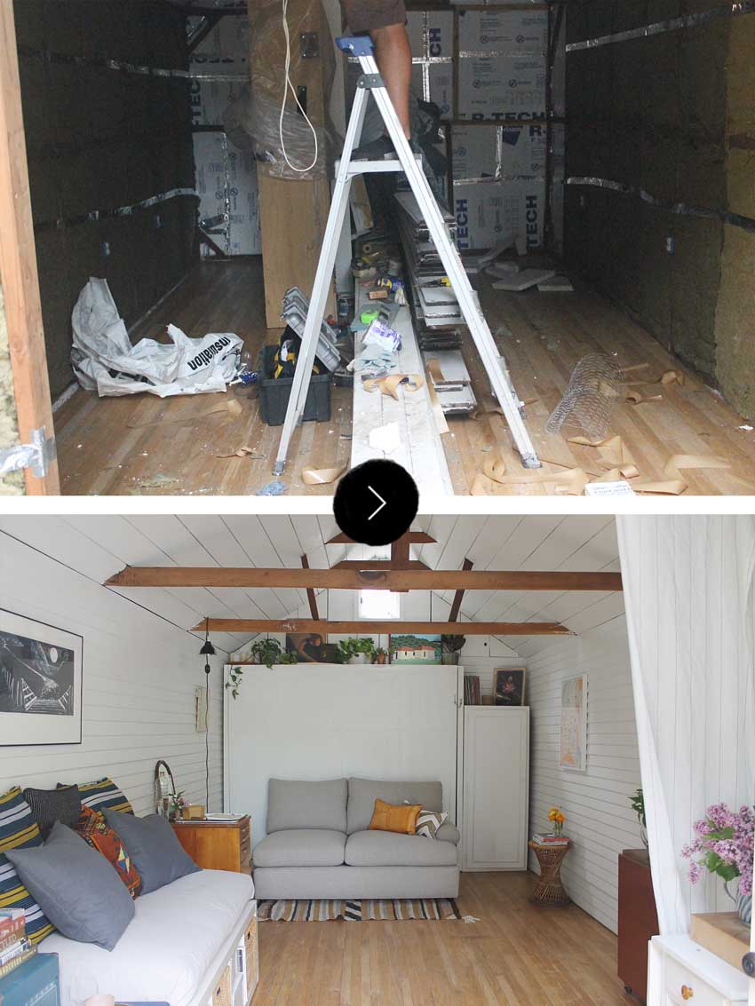 Before & After Of Grandma's Garage Turned Bitty Berkeley Bungalow On Design*Sponge