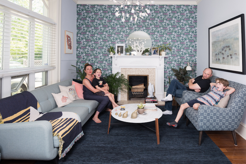 Wallpaper Creates a One-of-a-Kind Family Home In Colorado | Design*Sponge