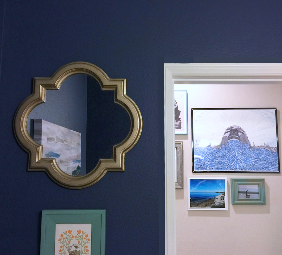 Kelli's Powder Room Makeover, on Design*Sponge