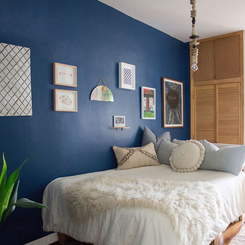 Mallory And David's Blue Period In Their Home Tour On Design*Sponge