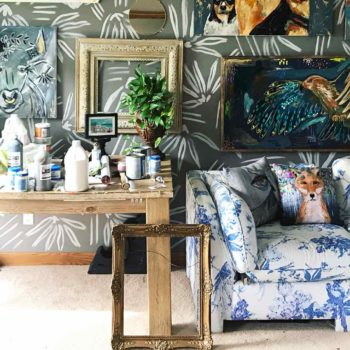 Hand-Painted Walls and Artwork Enriches a Midwestern Family's Home