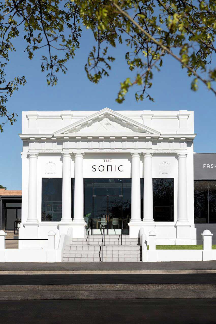 The Exterior Of The Sonic A Concept Store In South Wales Australia On Design*Sponge