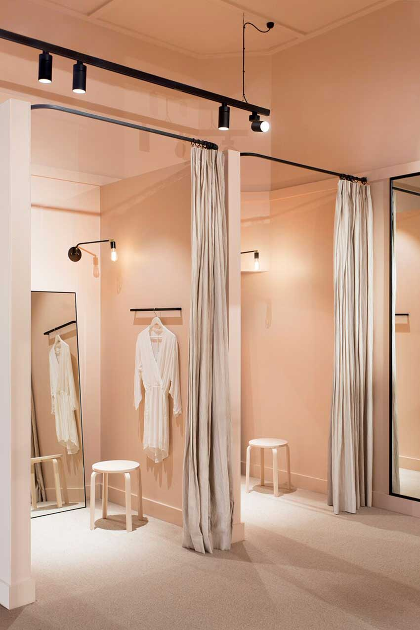 Pink Dressing Rooms In Iglou The Clothing Store Within The Sonic On Design*Sponge
