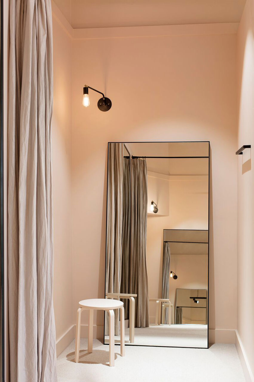 Classic Style And Minimal Lines Shine In The Sonic's Iglou Dressing Rooms On Design*Sponge