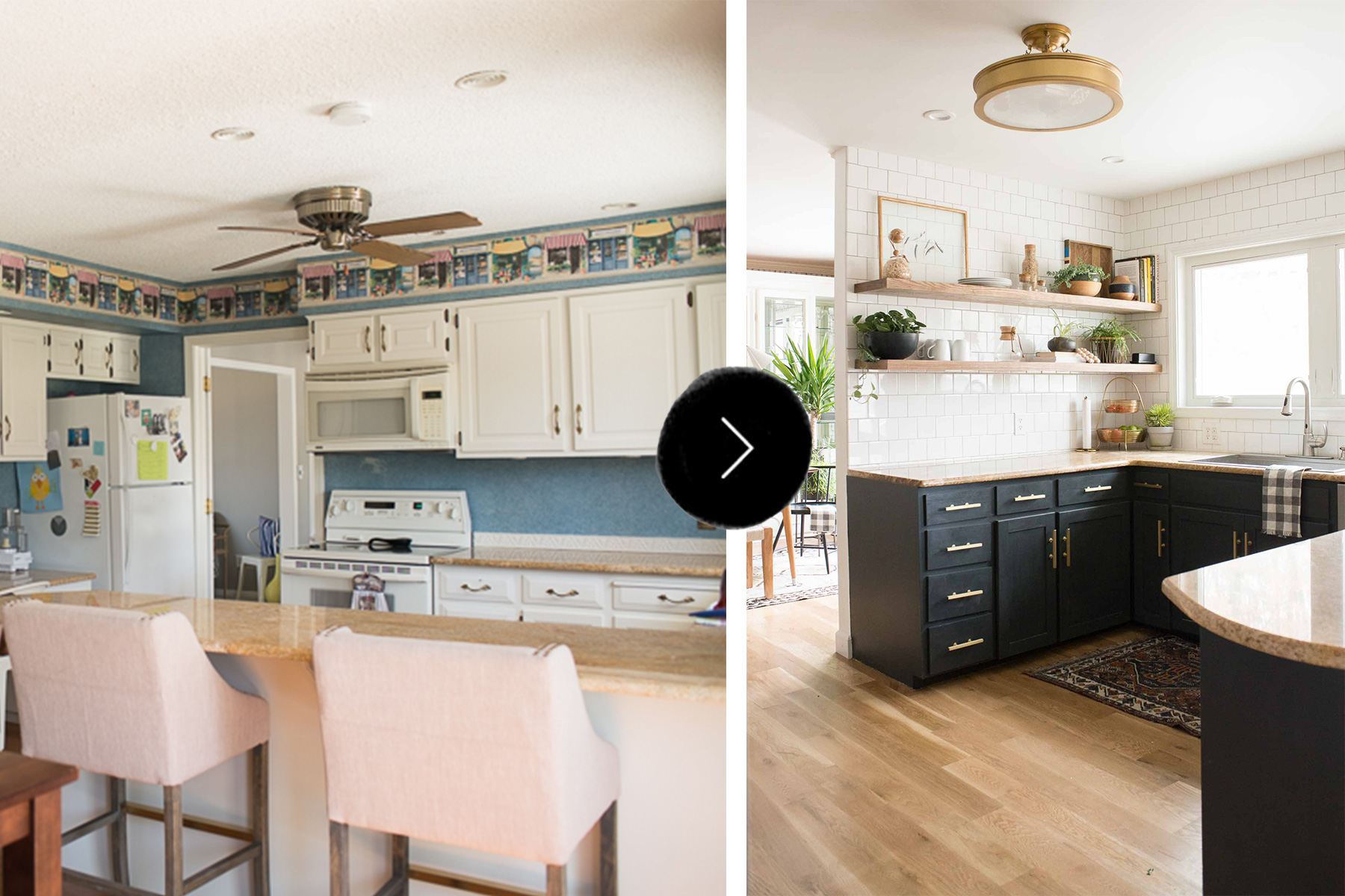 Perfect Before & After: A Budget-Conscious Kitchen and Dining Room  QD44