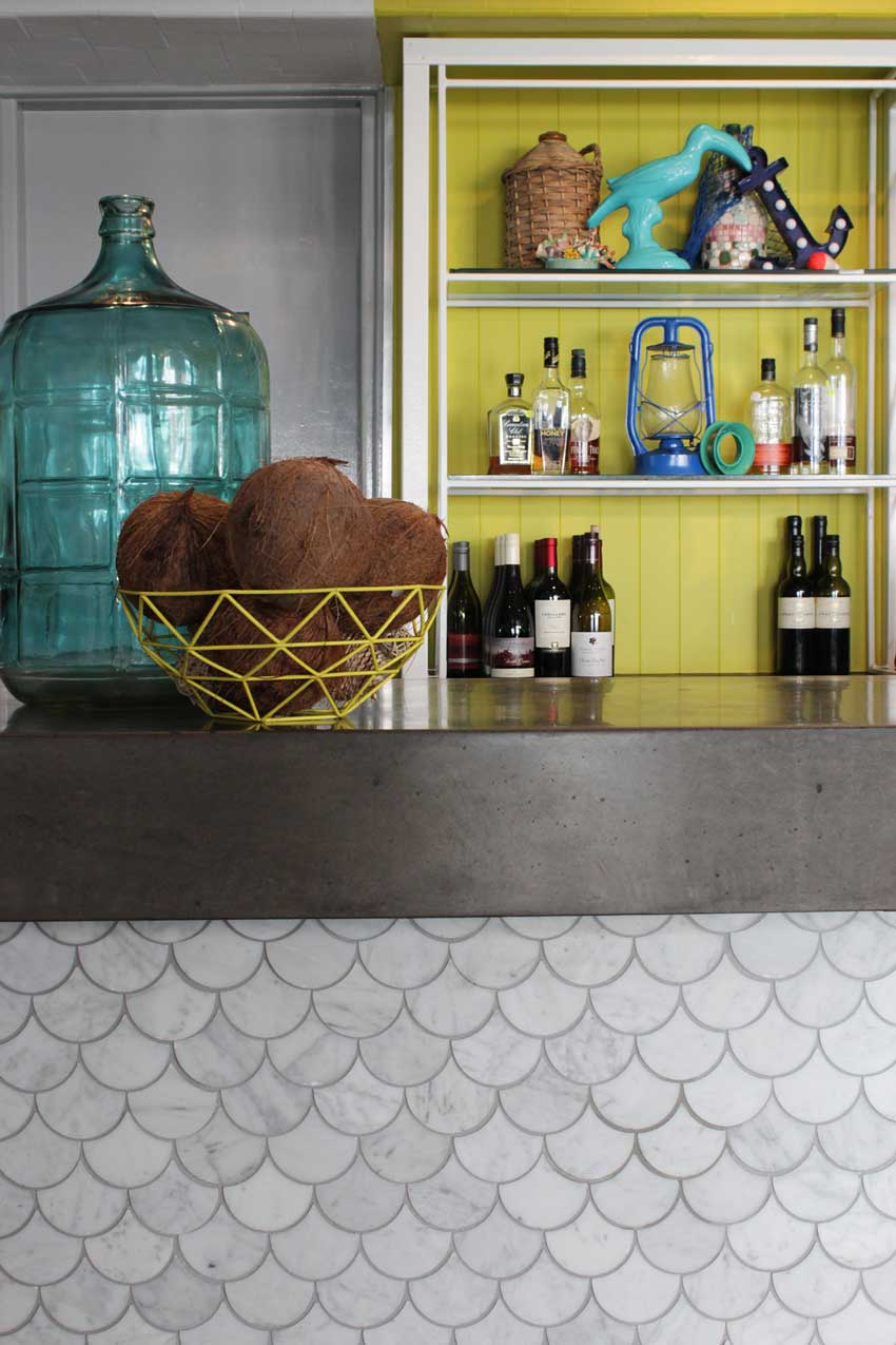 The Front Bar Of The Beach Hotel Features Bright Colors Tour On Design*Sponge