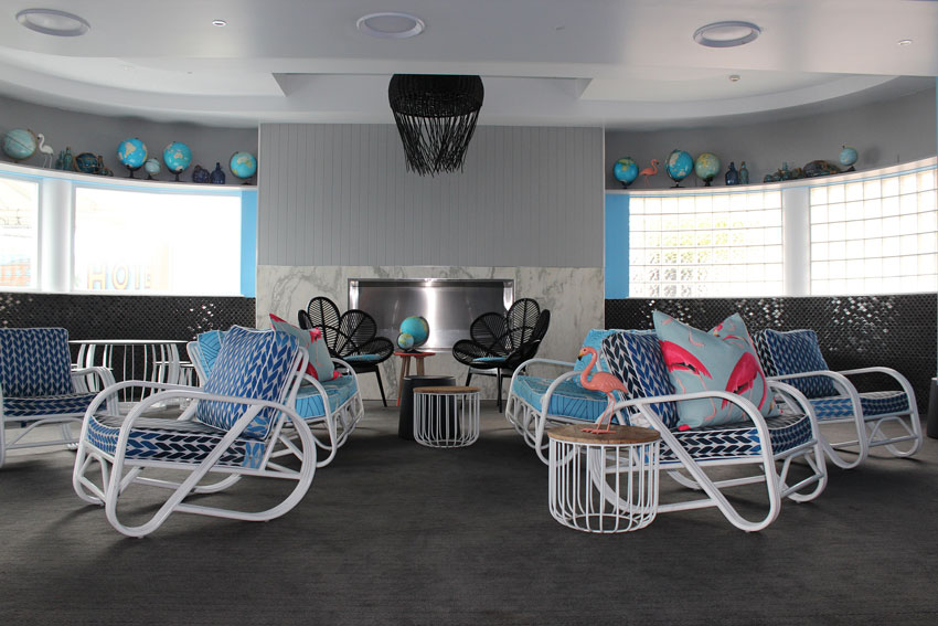 Vintage Meets Modern In The Beach Hotel Lounge On Design*Sponge