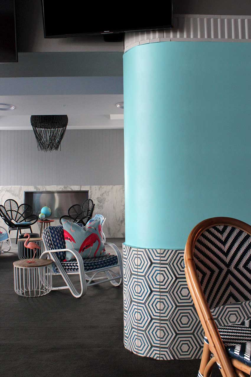 Custom Tiles Make The Space More Special In The Beach Hotel On Design*Sponge