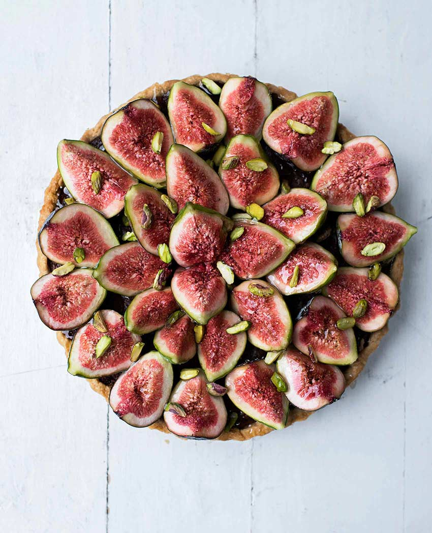 Fig and Pistachio Frangipane Tart. Photo by Issy Croker | DesignSponge