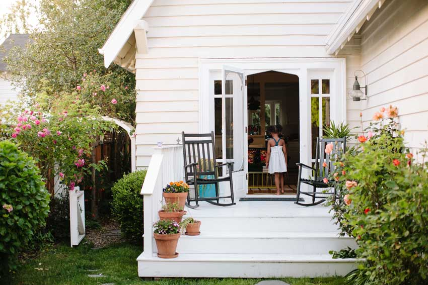 Front porch of the Taylor home on Design*Sponge