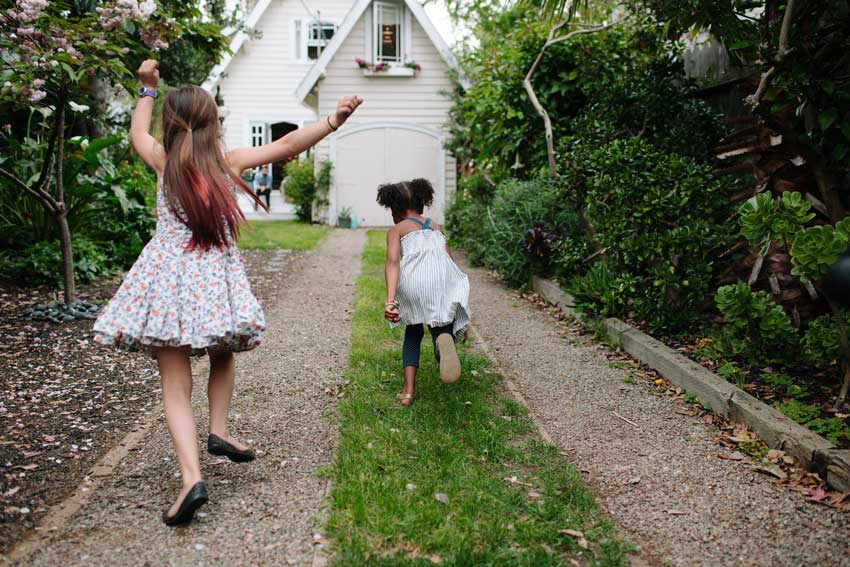 The Kids Run Towards The House In This Oakland Home Tour On Design*Sponge