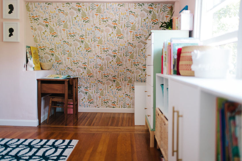 The Wallpaper Lends Itself Well To The Angled Ceilings In The Girls' Room On Design*Sponge
