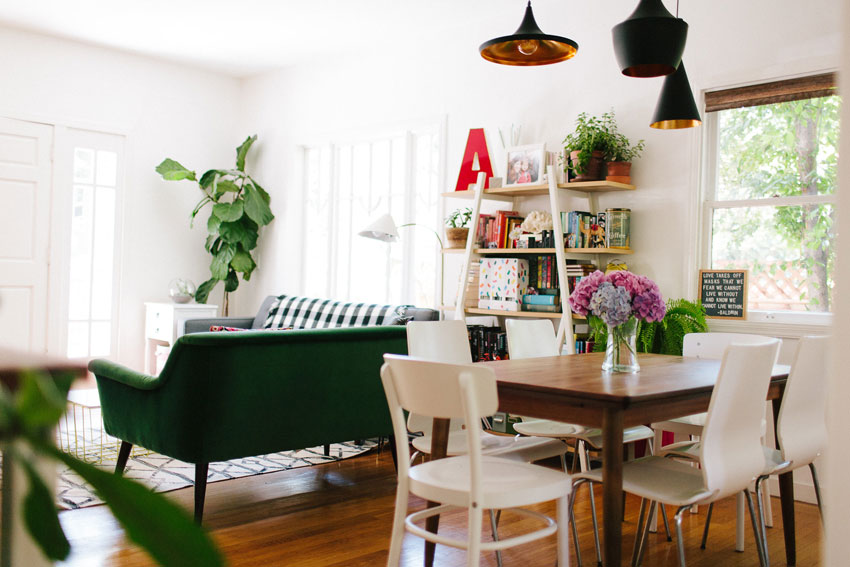 An Open Dining Room And Living Room In Oakland On Design*Sponge