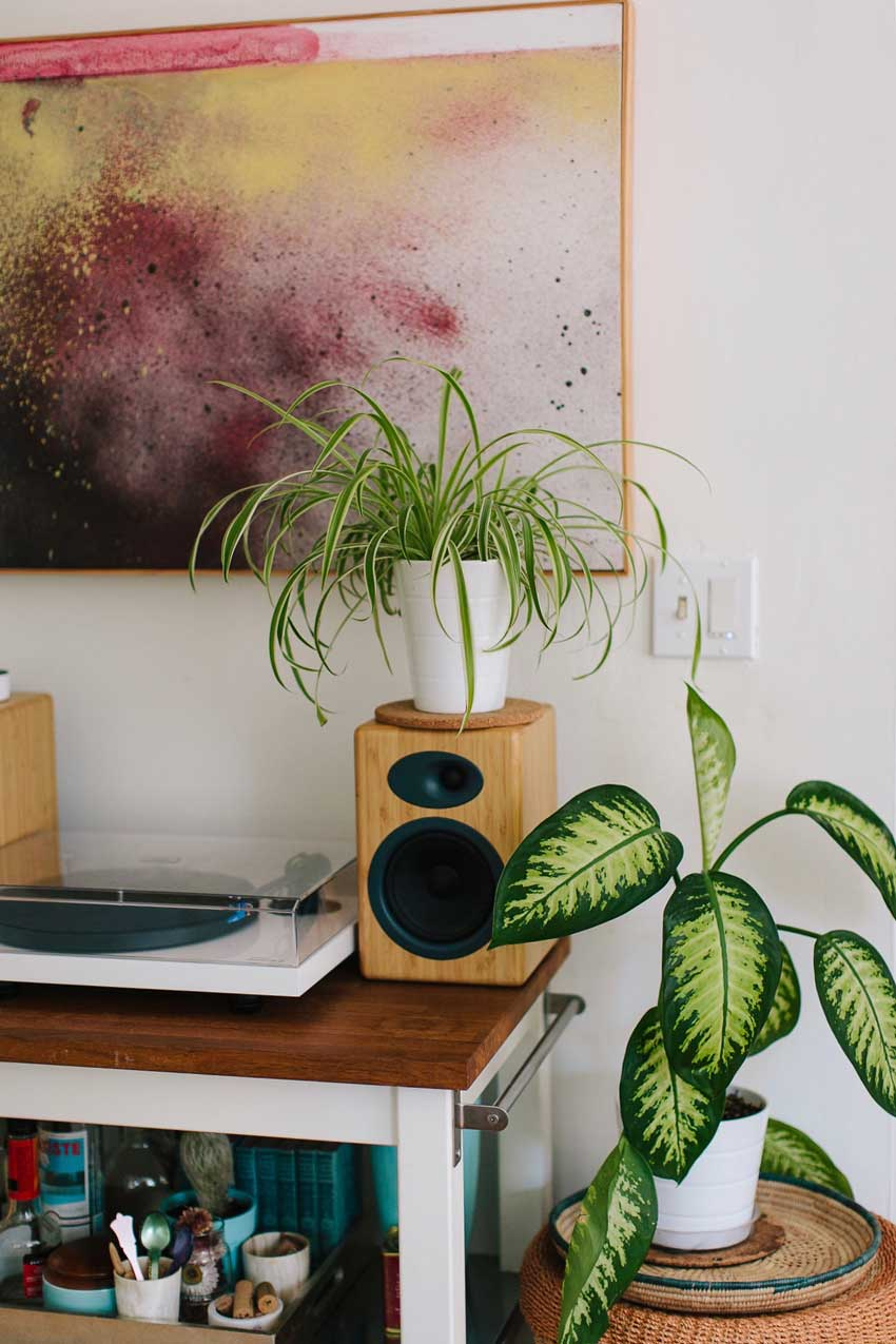 A Corner Perfect For A Petite Record Player Set-Up In Oakland On Design*Sponge