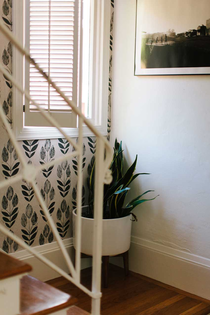 Wallpaper Adorns The Stairwell Of This Oakland Home On Design*Sponge