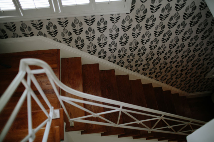 Wallpaper Adds Character To The Stairwell On Design*Sponge