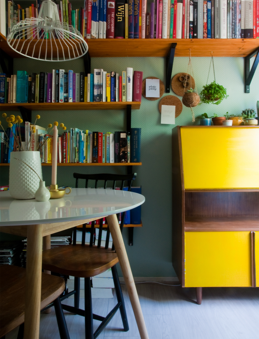 In the Netherlands, a Houseboat Offers Colorful Living on the Water | Design*Sponge