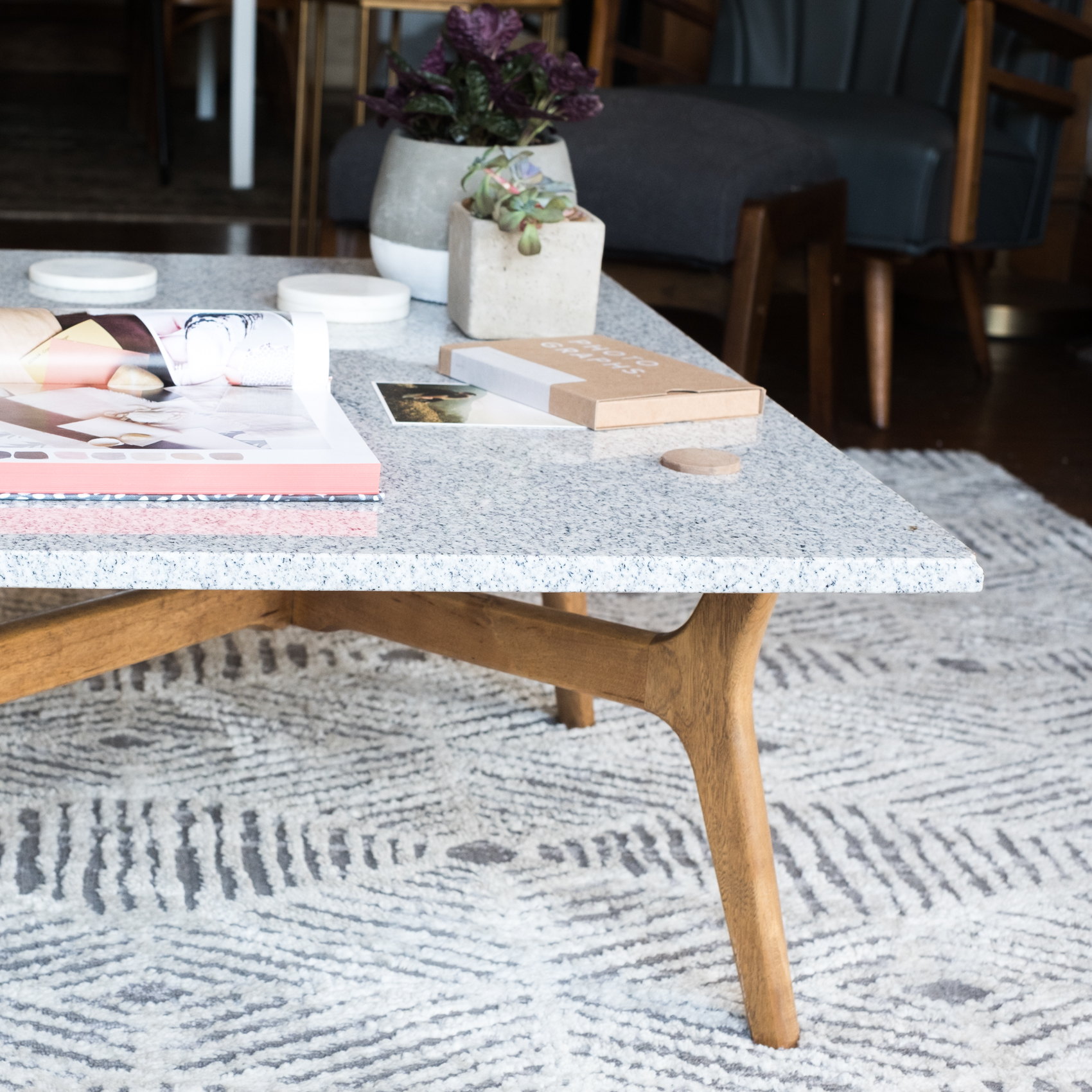 Diy Stone Top Coffee Table Design Sponge