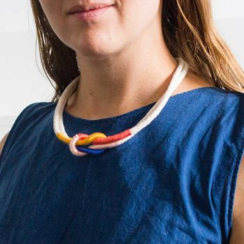 DIY Colorful Rope Necklace