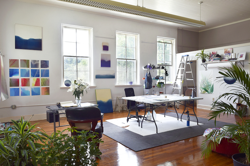 Artist Marina Dunbar's Studio in an Old School | Design*Sponge