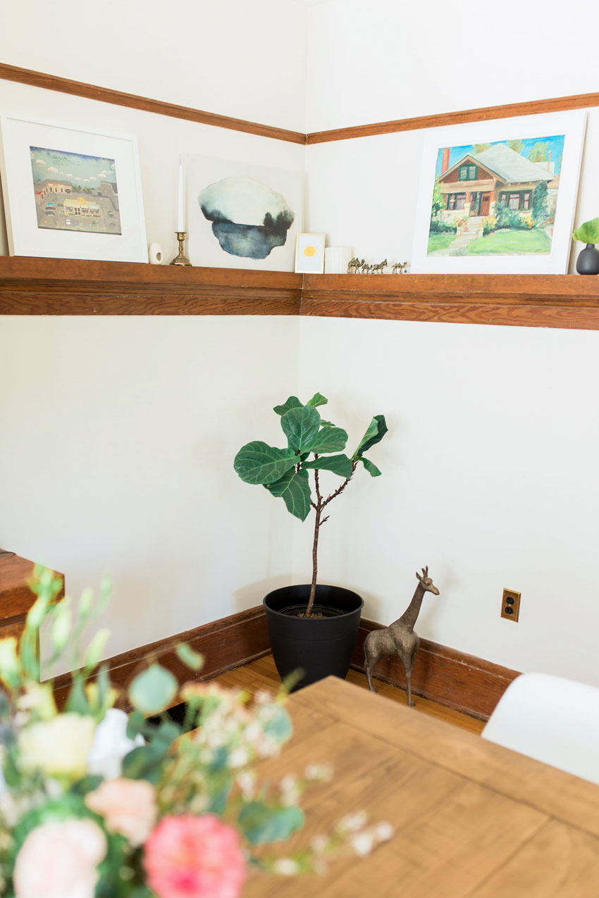 A Painting Of The House From The Previous Owner Hold Court In The Dining Room On Design*Sponge