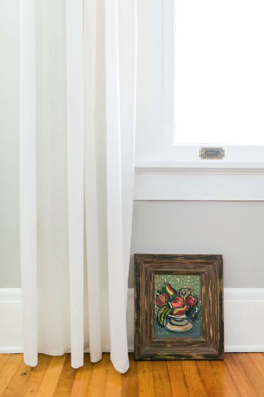 A Favorite Painting Fits In The Space Below The Window In The Bedroom On Design*Sponge