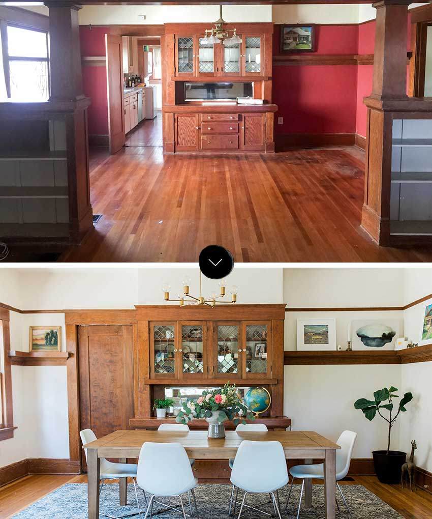 Before And After Dining Room Reveals A Bright And Welcoming Space On Design*Sponge