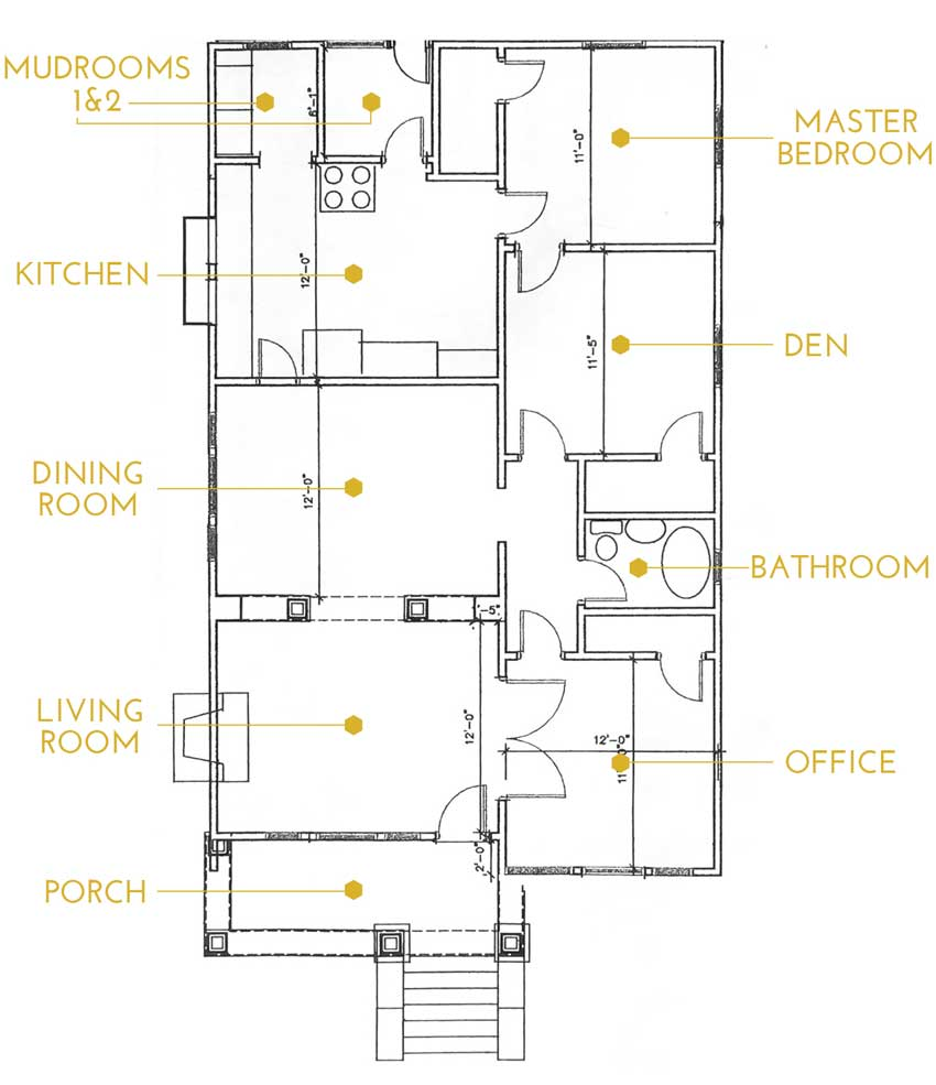 The Layout For Ashley And Ross' San Diego Home On Design*Sponge