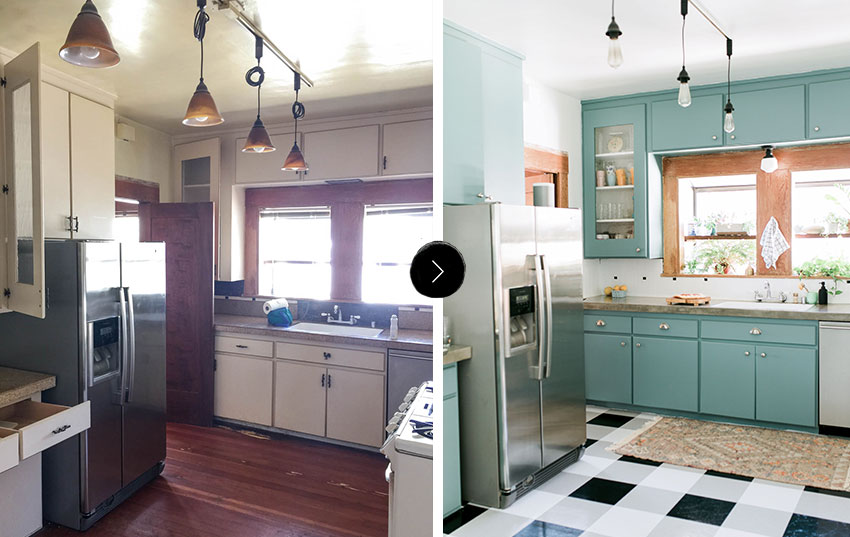 Ashley And Ross' Before And After Kitchen Tour On Design*Sponge