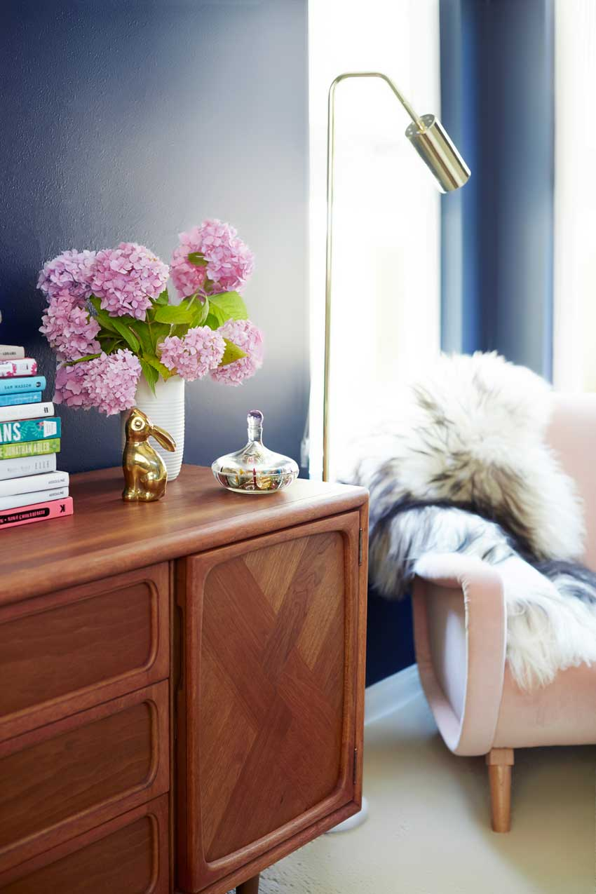 A Credenza Making The Most Of A Smaller Corner On Design*Sponge