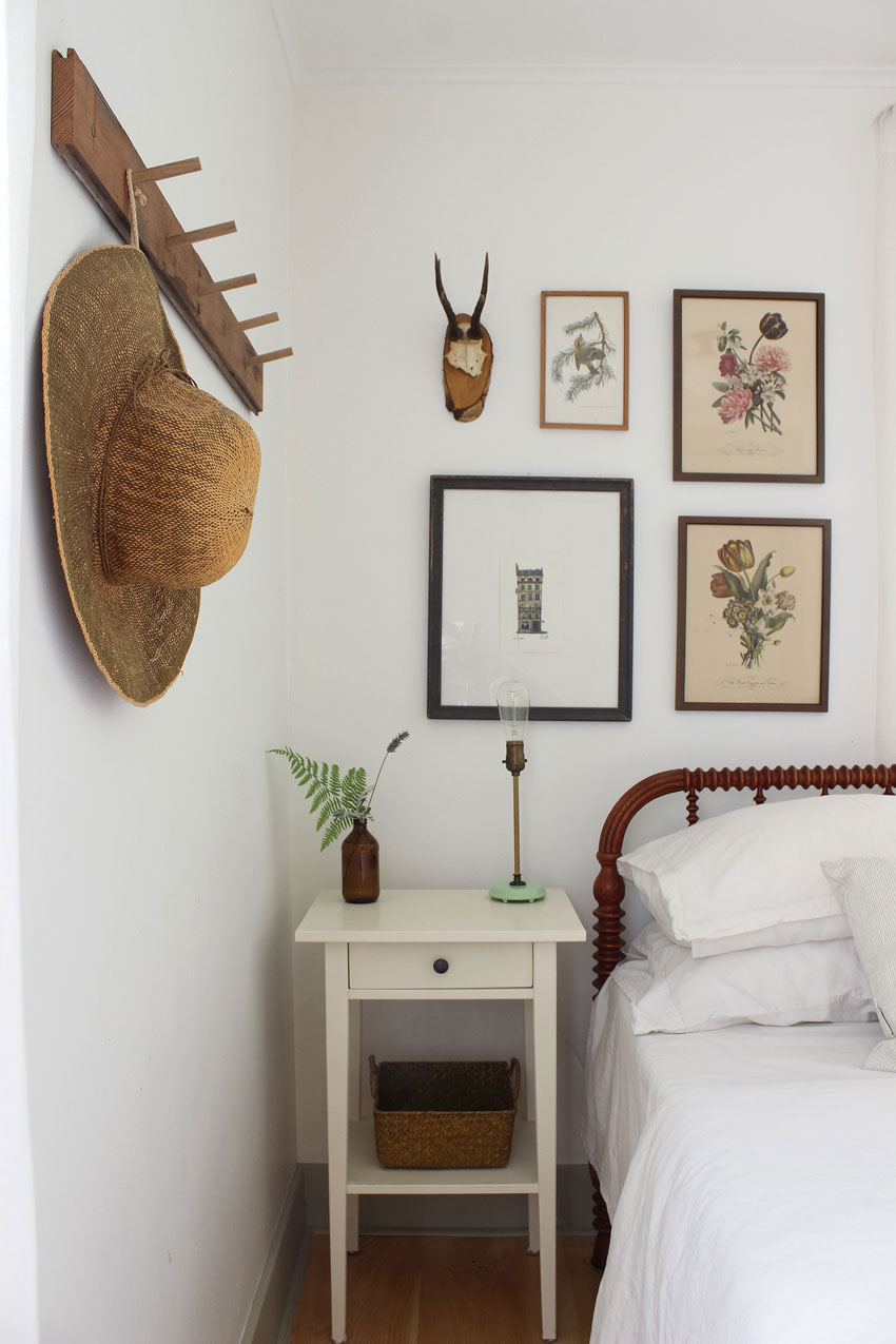 Old Floor Boards Created A Peg Rail In The Master Bedroom On Design*Sponge