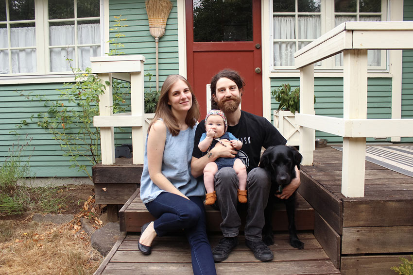 The Cogswell Family In Front Of Their Olympia Cottage On Design*Sponge