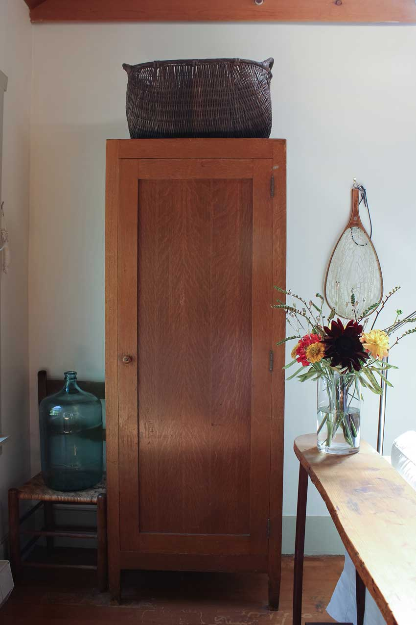 A Vintage Wardrobe Hides Fishing Gear In This Olympia Cottage On Design*Sponge