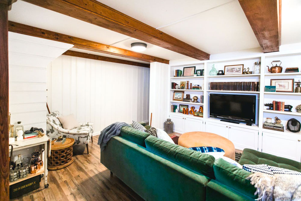 Before & After: A Beautiful Family Room Remodel on a Budget   Design*Sponge
