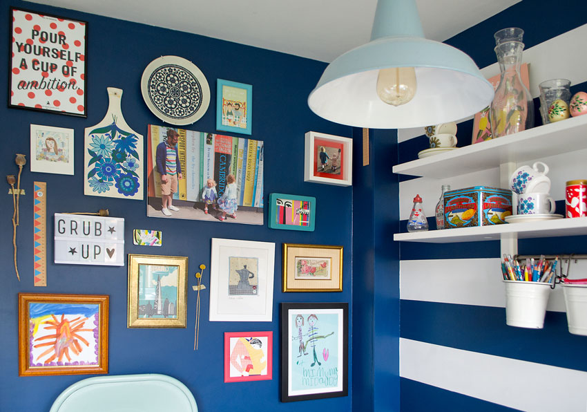 The Gallery Wall In The Kitchen Offers Constant Inspiration In This Tour On Design*Sponge