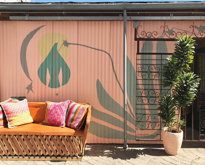 A New Entrance Calls For A New Mural By Meagan Donegan At Marisa Mason In Oakland Tour On Design*Sponge
