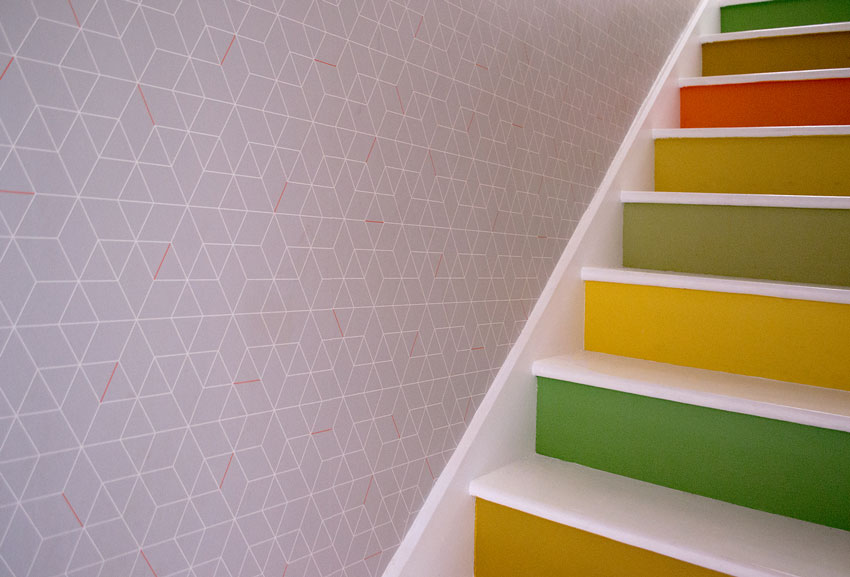 The Colorful Stairs Provide A Happy Moment In The Coote Household On Design*Sponge