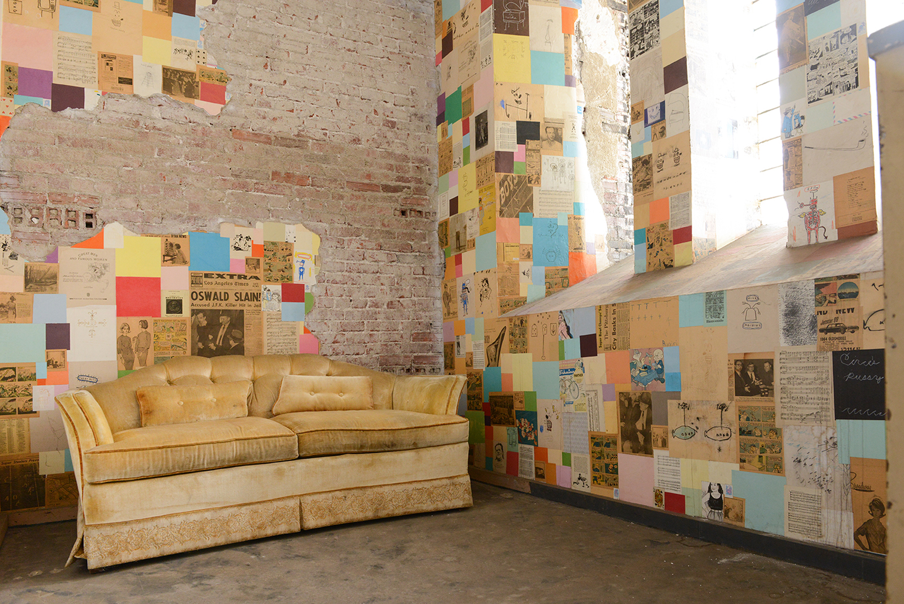 An Abandoned School Becomes A Place for Art, Community and Home via Design*Sponge