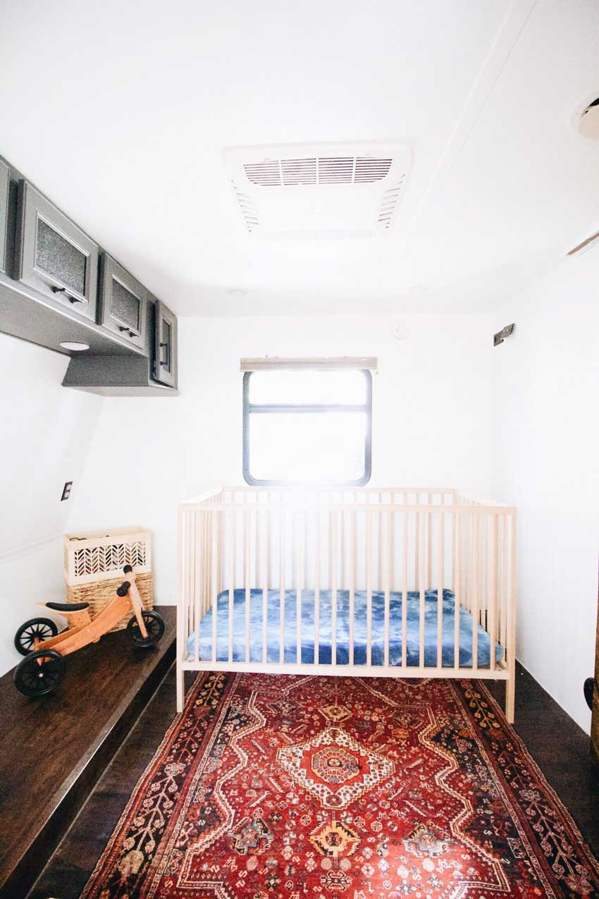 The Nursery For Their Son In The Converted Toy Trailer Tour On Design*Sponge
