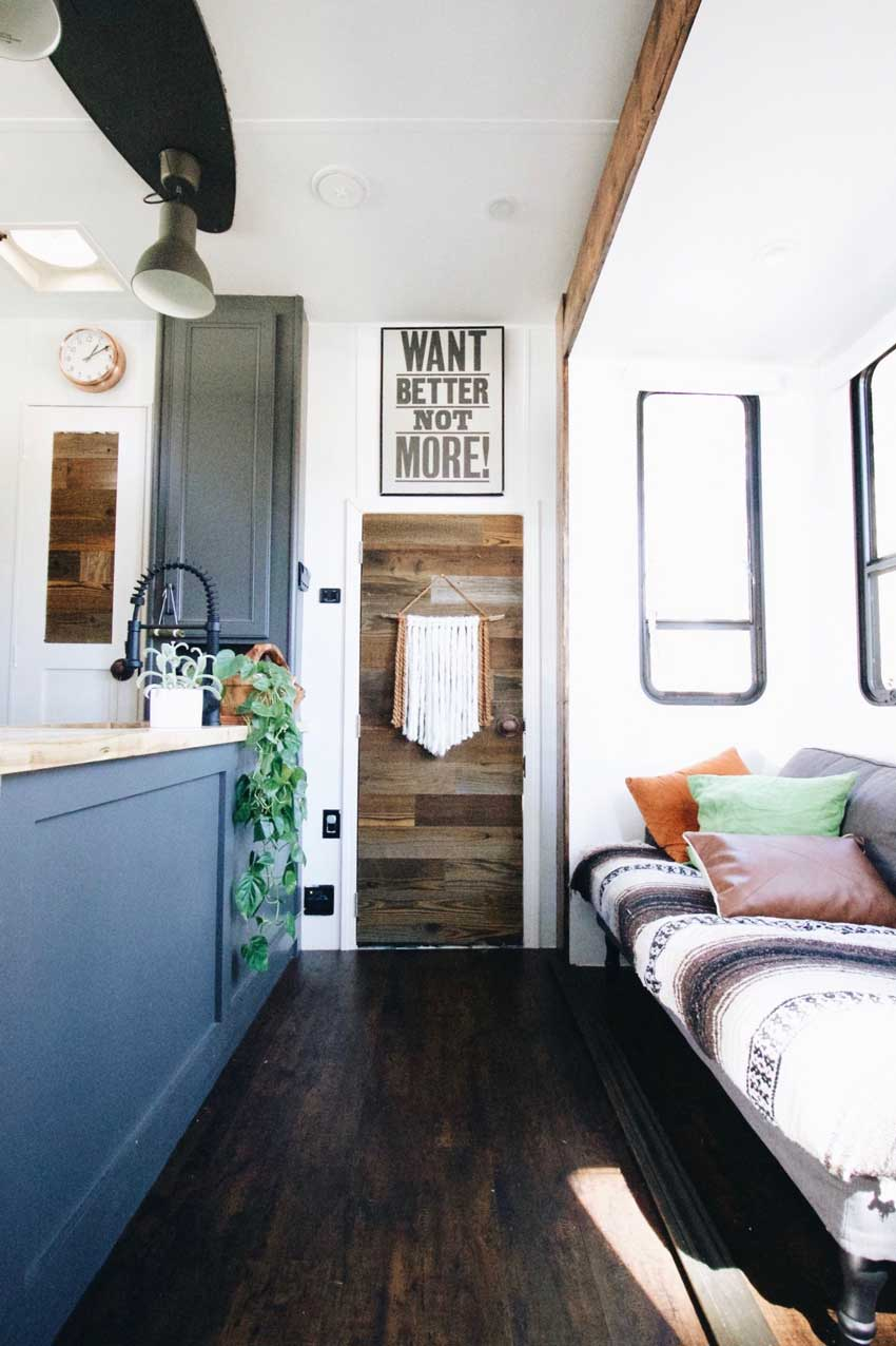 A View Of The Living Room Toy Trailer Tiny Home On Design*Sponge