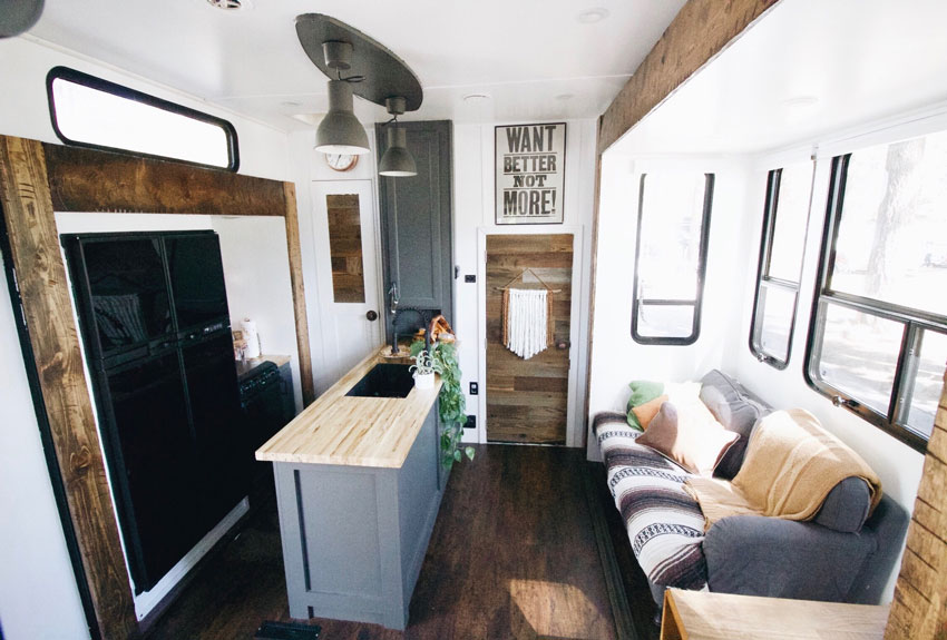 The Bailey Living Room In Their Tiny House On Design*Sponge