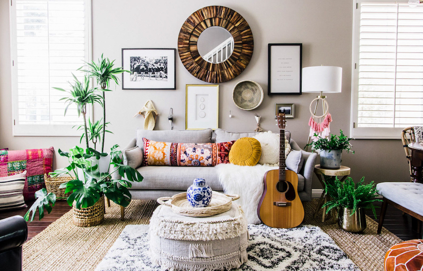 Effortless Boho Style Transforms A 90s Cookie Cutter Home