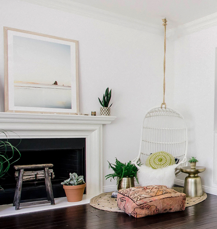 Effortless Boho Style Transforms a 90s Cookie Cutter Home in Orange County | Design*Sponge
