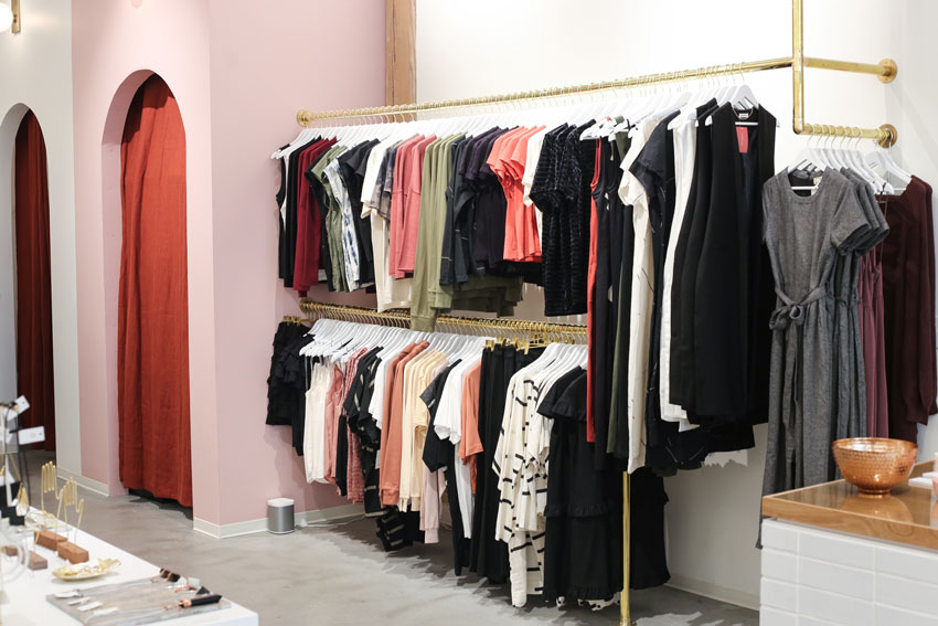 The Moorea Seal Clothing Display Is Conveniently Located Next To The Gorgeous Dressing Rooms Tour On Design*Sponge