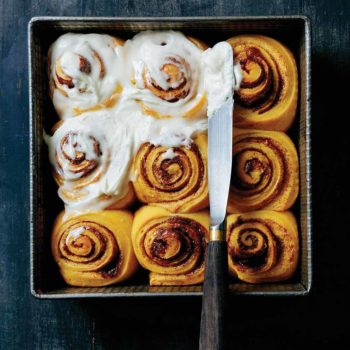 Pillowy Soft Sweet Potato Cinnamon Rolls + Giveaway