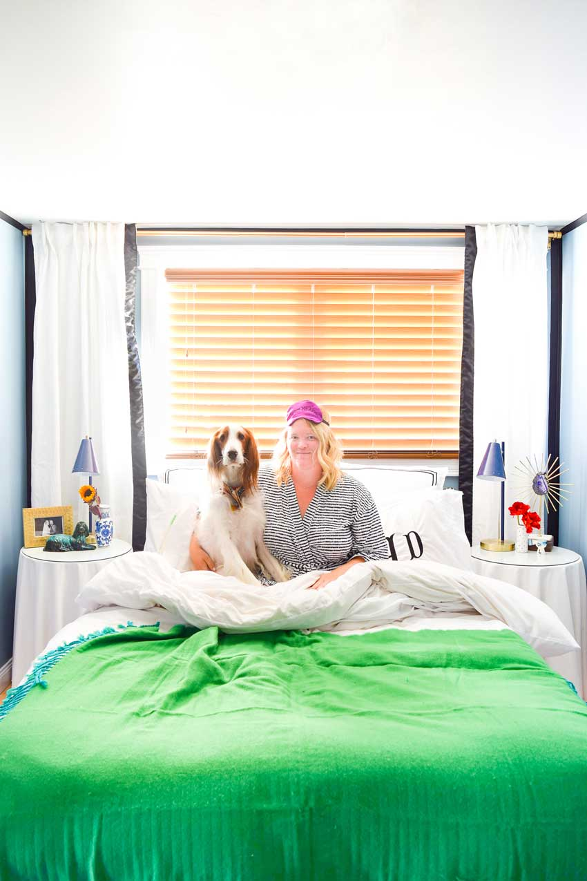 A Colorful Bedroom For Couple And Their Furry Friends On Design*Sponge