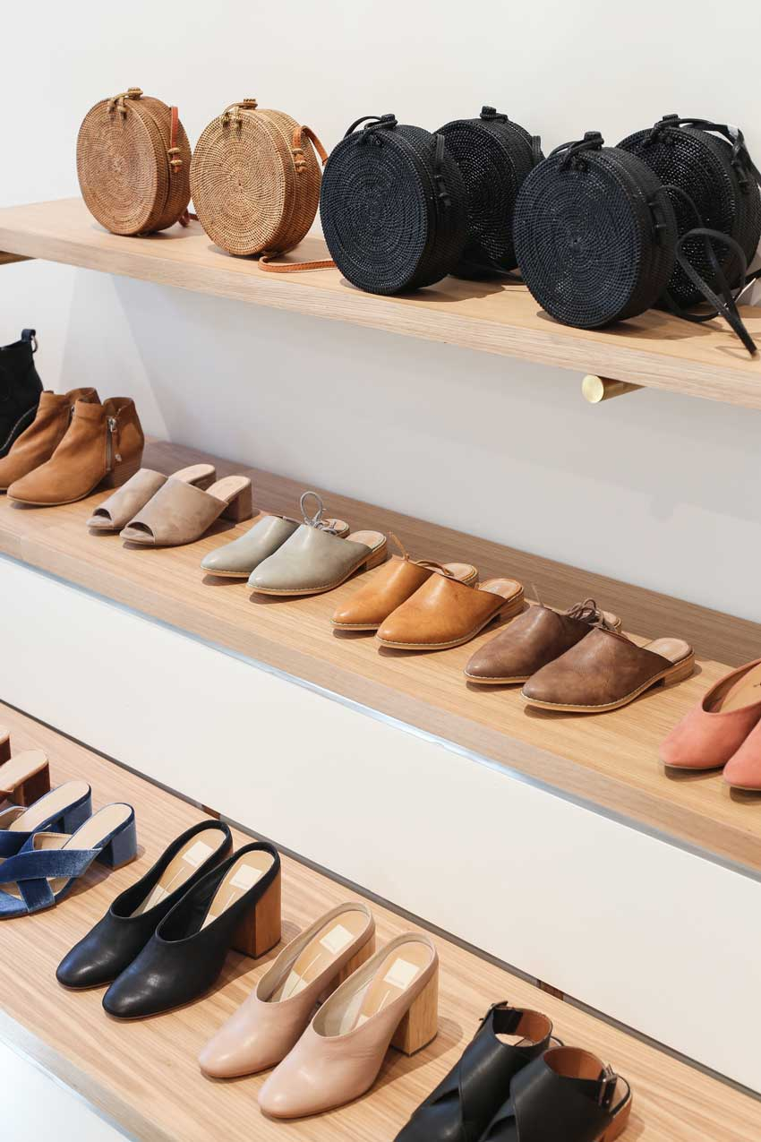 Bag And Shoe Display In Seattle's Moorea Seal On Design*Sponge