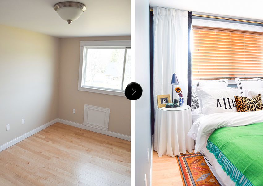 A Blah To Beautiful Master Bedroom Before And After On Design*Sponge